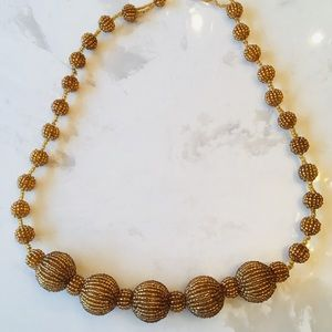 Jewelry - Yellow / gold color beaded ball necklace